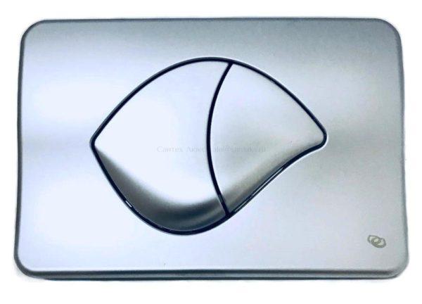 Двухрежимная клавиша смыва для инсталляции унитаза Ido (матовый хром) Z6902500001