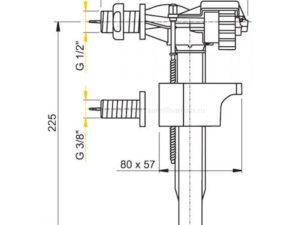 Заливная арматура для унитаза AlcaPlast с боковой подводкой 1/2 A16-1/2